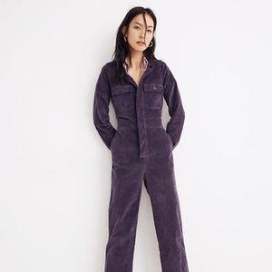 Madewell Velveteen Slim Coverall Suit